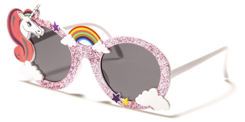 Kids Round Unicorn Sunglasses Wholesale K-893