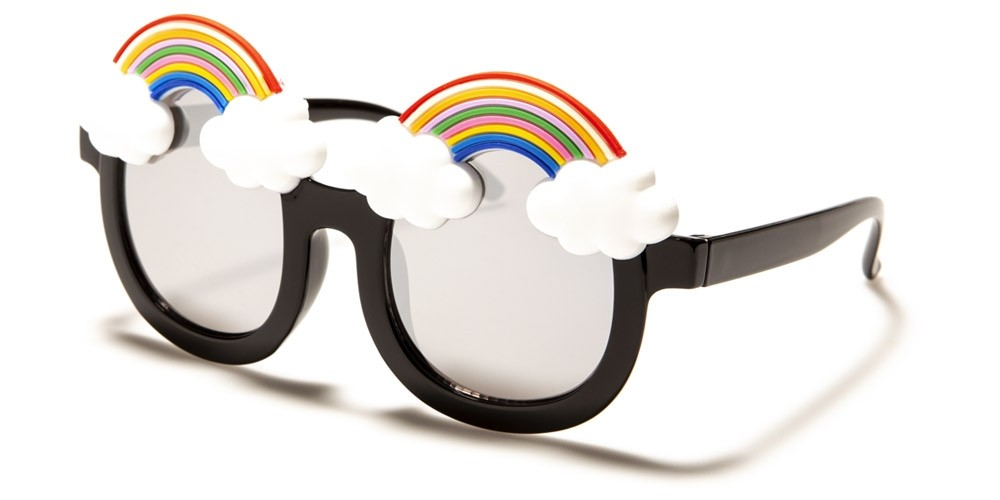 Kids Round Rainbow Wholesale Sunglasses K-894