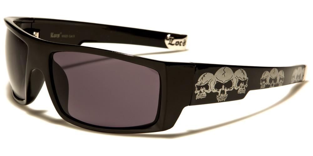 New Locs Black White Sport Designer Wrap Men/'s Sunglasses UV400 LOC9081