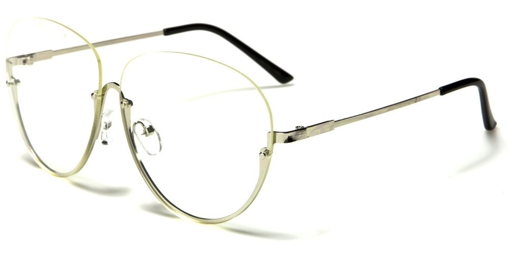 Rimless Geek Glasses : Nerd Rimless Unisex Glasses Wholesale NERD-064
