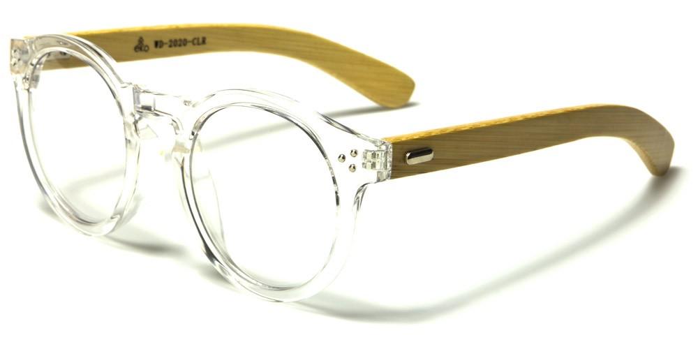 Round Wood Unisex Glasses In Bulk Wd 2020 Clr