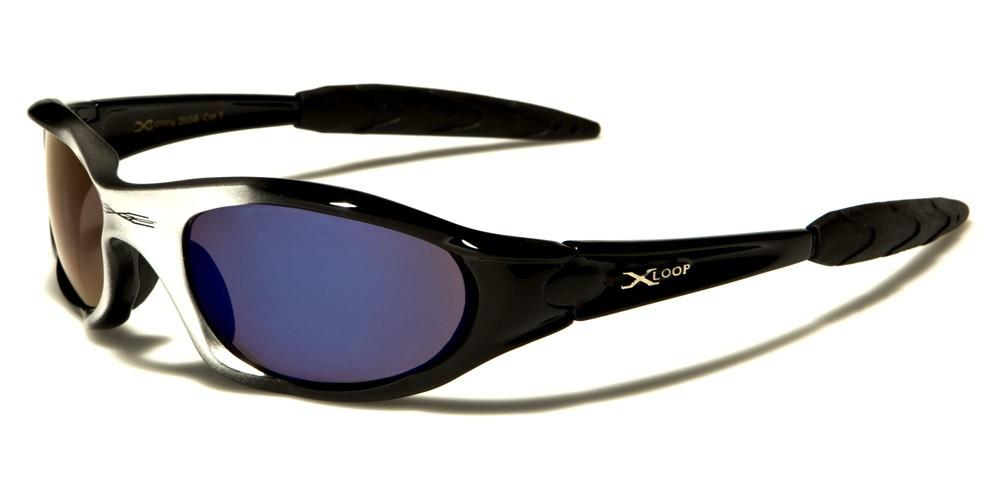 stylish glasses for men  X-Loop Wrap Around Men\u0027s Sunglasses Wholesale XL01BMIX