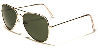 Air Force Aviator Unisex Sunglasses Bulk AF101-GOLD