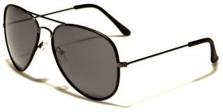 Air Force Faux-Leather Aviator Wholesale Sunglasses AF101-LEA