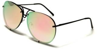 Aviator Pink Lens Women's Bulk Sunglasses AV-1505-PINK