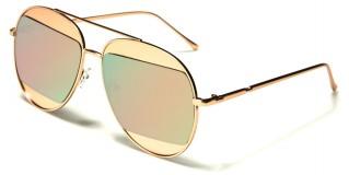 Aviator Pink Lens Women's Wholesale Sunglasses AV-1521-PINK