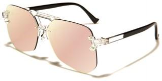 Rimless Aviator Unisex Wholesale Sunglasses AV-1541-CM