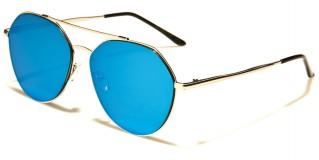 Aviator Flat Lens Unisex Sunglasses Wholesale AV-1549-FT-CM