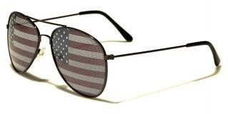 USA Flag Aviator Unisex Wholesale Sunglasses AV1028-USA
