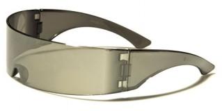 Futuristic Shield Unisex Sunglasses Wholesale CA06MIX