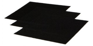 Black Microfiber Cleaning Cloths In Bulk CCLOTH-A12BLK