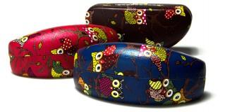 Owl Print Sunglasses Cases Wholesale CV842