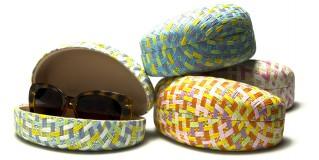 Pastel Paper Woven Sunglasses Cases Wholesale CW895-PAPER