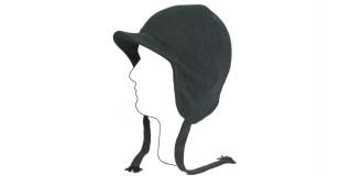 Black Snowboard Ski Visor Earflap Hat Beanie Bulk HSH1701