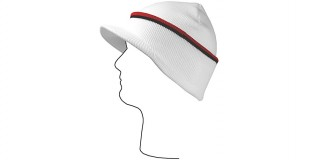 White/Red/Black Visor Beanie Cap Wholesale HSH2104