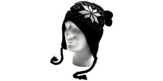 Black Wholesale Hat White Snowflake Beanie HSH2503