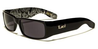 Locs Rectangle Men's Bulk Sunglasses LOC9006-BDNBK