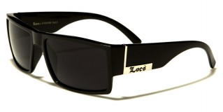 Locs Square Men's Sunglasses Wholesale LOC91026-BK