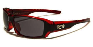 Locs Rectangle Men's Sunglasses Wholesale LOC91042-BKRED