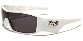 Locs Shield Men's Wholesale Sunglasses LOC91056-WHT