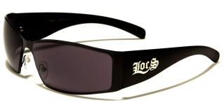 Locs Rectangle Men's Sunglasses Wholesale LOC9106-MB