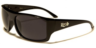 Locs Rectangle Men's Sunglasses Wholesale LOC91072-BK