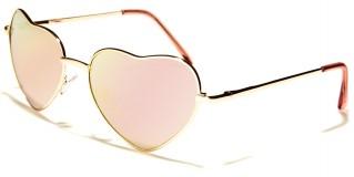 Heart Shaped Fashion Women's Bulk Sunglasses M10054-HEART-CM