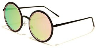 Round Flat Lens Women's Sunglasses Bulk M10208