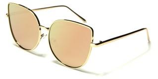 Cat Eye Pink Lens Women's Sunglasses Bulk M10225-PINK