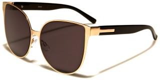 Cat Eye Flat Lens Women's Sunglasses Bulk M10312-FT