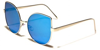 Cat Eye Flat Lens Women's Wholesale Sunglasses M10321-FT-CM