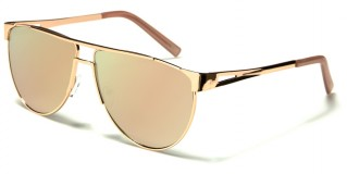 Aviator Pink Lens Women's Wholesale Sunglasses M10338-FT-PINK