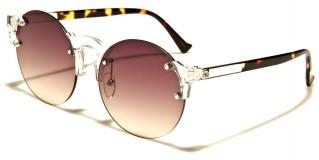 Rimless Round Unisex Sunglasses Wholesale M10364