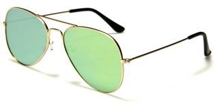 Aviator Flat Lens Unisex Sunglasses Bulk M6329-FT-CM