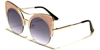 Cat Eye Flat Lens Women's Bulk Sunglasses P30191-FT