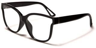 Classic Flat Lens Unisex Wholesale Glasses P6202-FT-CLR