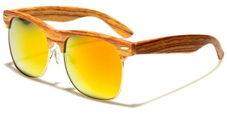 Wood Print Classic Unisex Bulk Sunglasses P9133-WD-CM