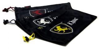 Khan Lion Logo Black Microfiber Pouches Wholesale POUCH-KHAN