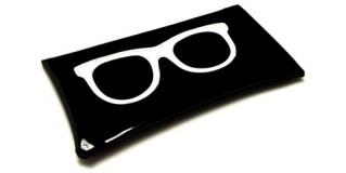 Black Vinyl Sunglasses Pouches Wholesale POUCH-WFBK