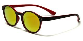 Round Mirrored Unisex Sunglasses Wholesale W-1770