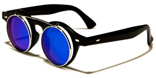 Round Flip-Up Unisex Sunglasses In Bulk W-312-CM-FLIP