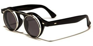 Round Flip-Up Unisex Sunglasses In Bulk W-312-FLIP