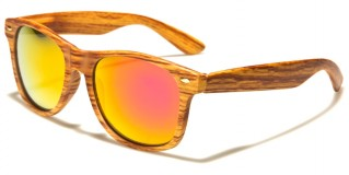 Wood Print Classic Unisex Sunglasses Wholesale W-695-WD-CM