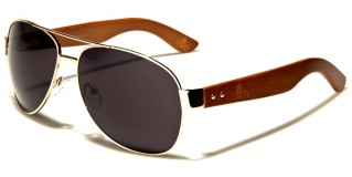 Aviator Wood Unisex Wholesale Sunglasses WD-2026M