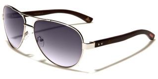 Aviator Wood Unisex Sunglasses In Bulk WD-2029M