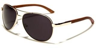 Aviator Wood Unisex Bulk Sunglasses WD-2030M