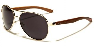 Aviator Wood Unisex Wholesale Sunglasses WD-2033M