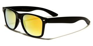 Classic Mirrored Unisex Sunglasses Wholesale WF01-BKCM