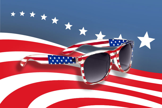 USA Flat Sunglasses