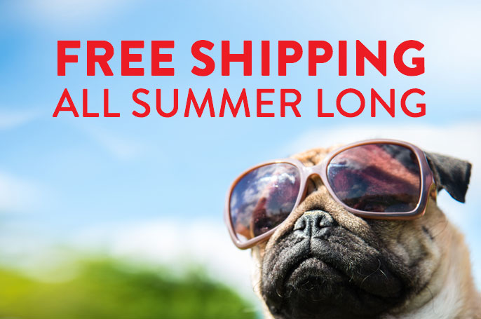free shipping all summer